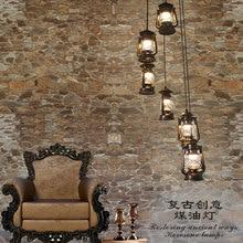 Cheval lampe suspension lumières fer mode rétro tournant escalier pendentif rétro rétro kérosène lampe escalier lampe bar café Vintage ZCL
