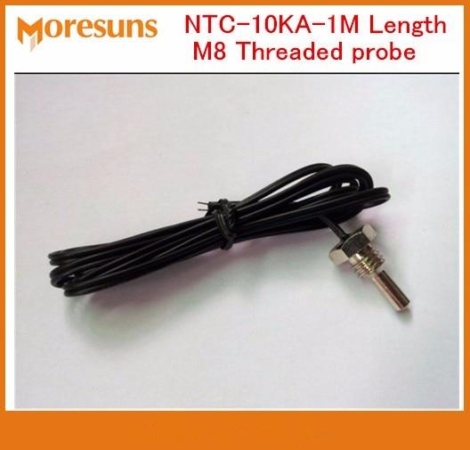 Free Ship 5pcs/lot NTC-10KA-1M Length M8 Threaded probe NTC 10K  B=3435 1% T1-03 NTC Temperature Sensor