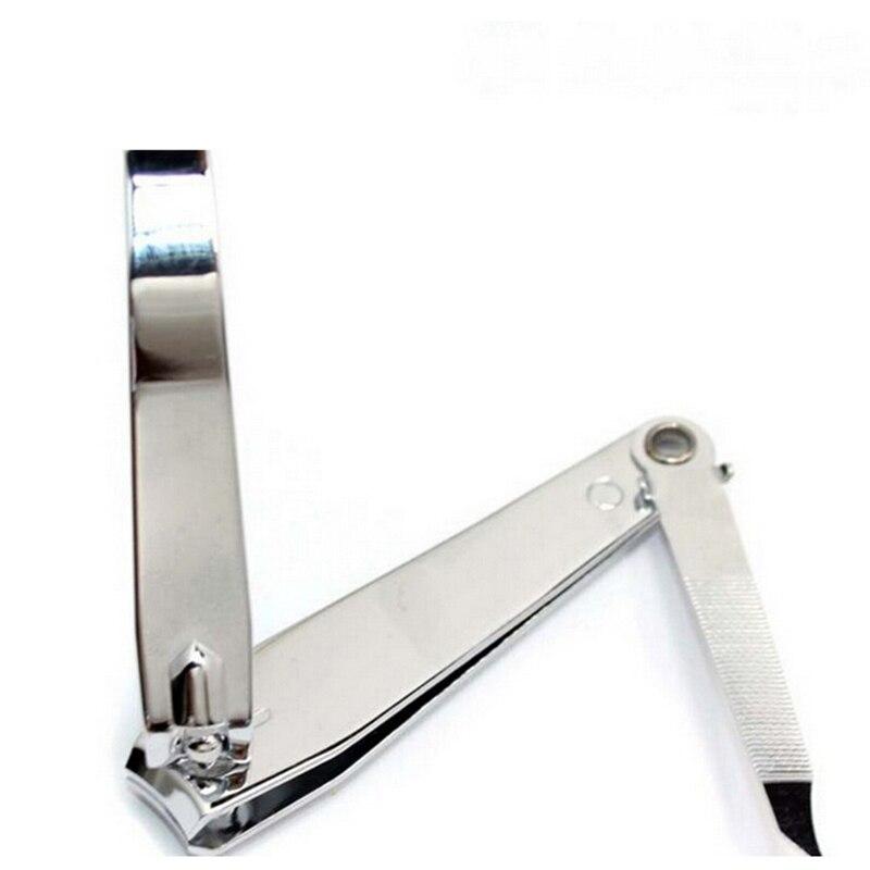 Nueva cortadora profesional de dedos de los pies de alta calidad, cortaúñas grande con lima de uñas, herramientas para uñas de acero inoxidable