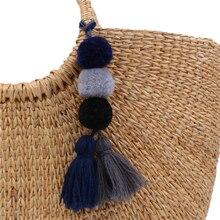 1pc Colorful Pom Pom Key Chain Key Rings Big Tassel Key Chains for Women Bag Charms Jewelry Key ring Jewelry