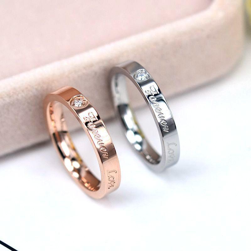 Circón conciso de alta calidad, material de acero inoxidable para bodas, oro...