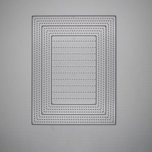 Cadre de bordure rectangulaire en métal 14*11 cm   Matrices de découpe pour cartes de Scrapbooking, fabrication dalbum, artisanat de gaufrage