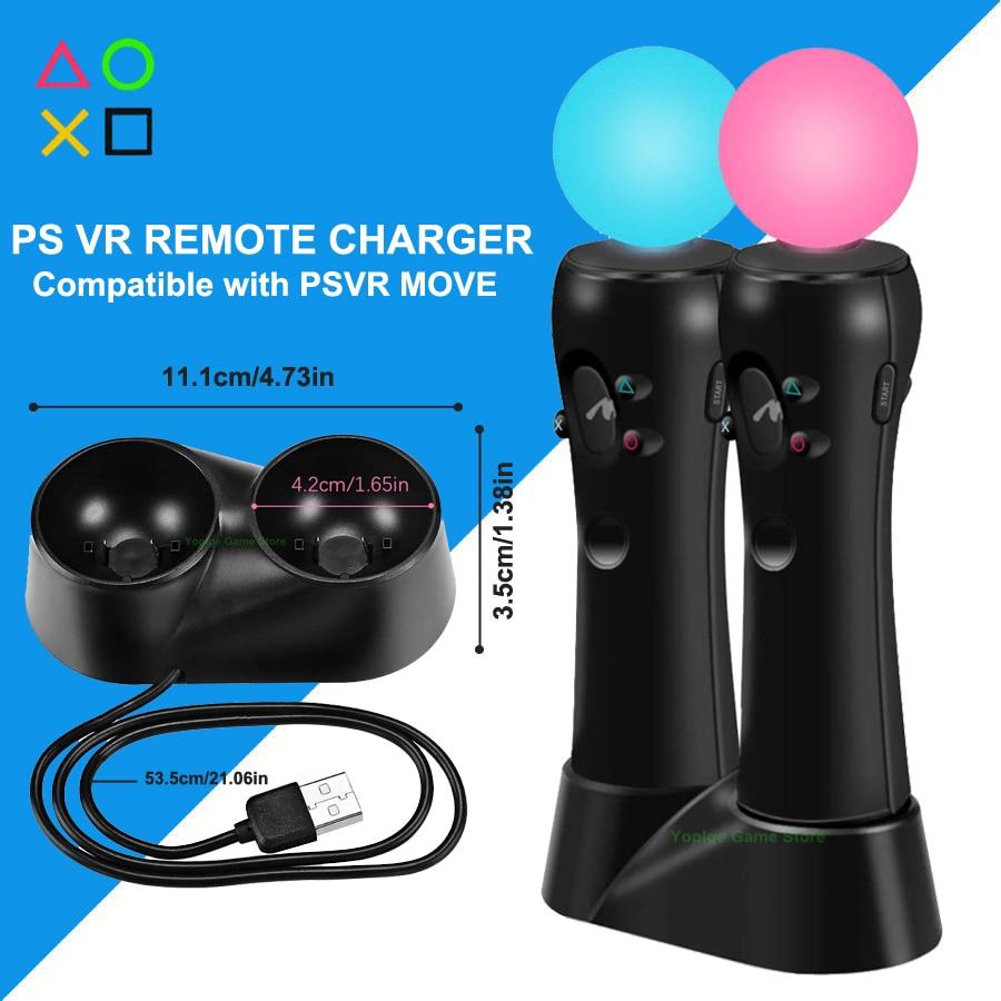 PS4 PS VR mover el controlador Dual USB cargador Gamepad Estación De Carga para Sony Playstation 4 PSVR mover los accesorios