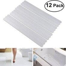 Bandes autocollantes pour douche   Étiquettes de sécurité pour bain, transparentes, antidérapantes, pour baignoire, douches, escaliers, sol, 12 pièces