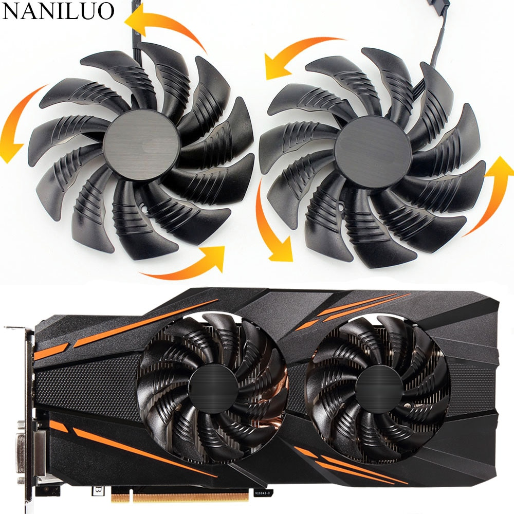 88MM for GIGABYTE GTX 1070 AORUS GTX 1070  RX 570 580 RX570 RX580 Fan PLD09210S12HH T129215SU Video Card Fan Cooler