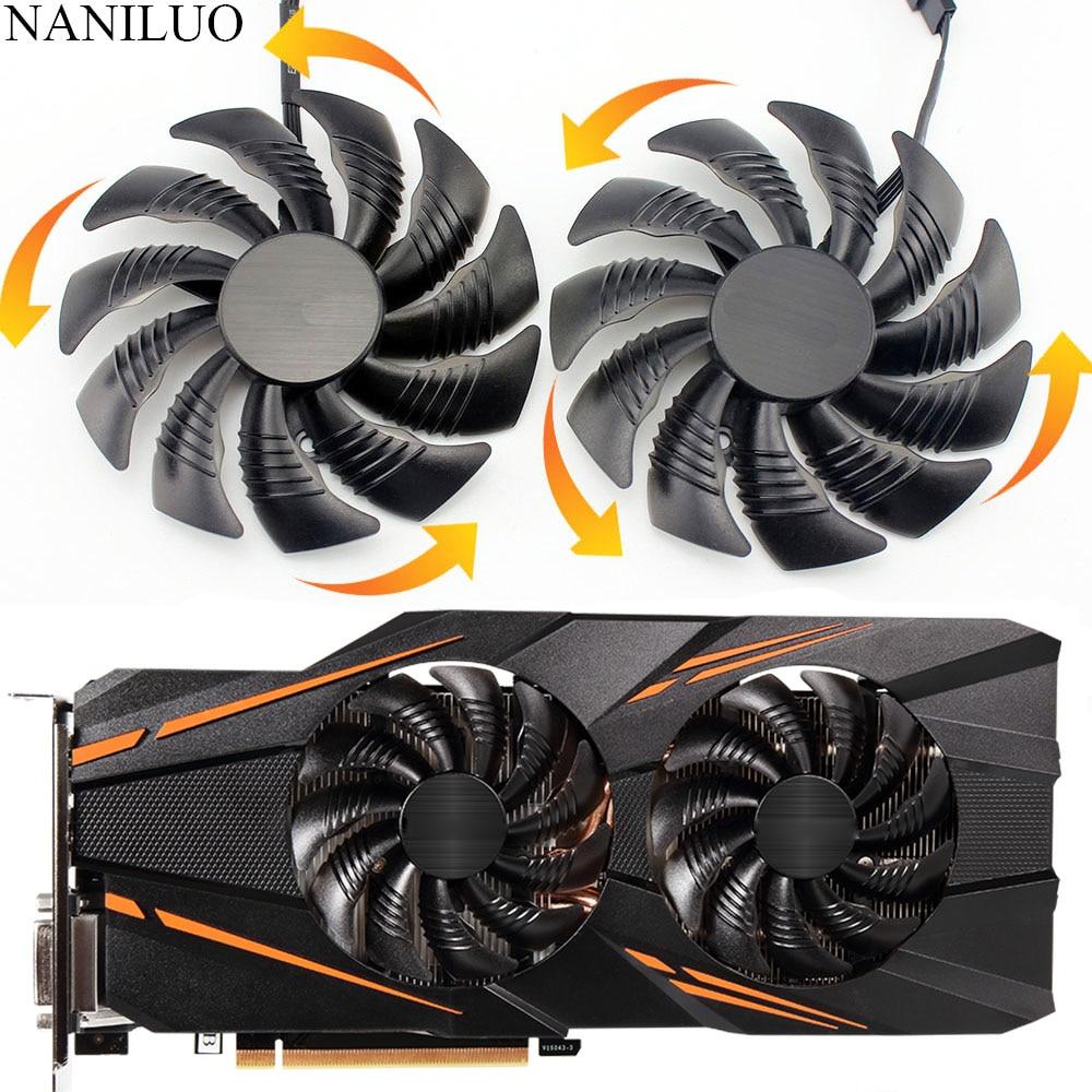 88MM for GIGABYTE GTX 1070 AORUS GTX 1070  RX 570 580 RX570 RX580 Fan PLD09210S12HH T129215SU Video Card Fan Cooler