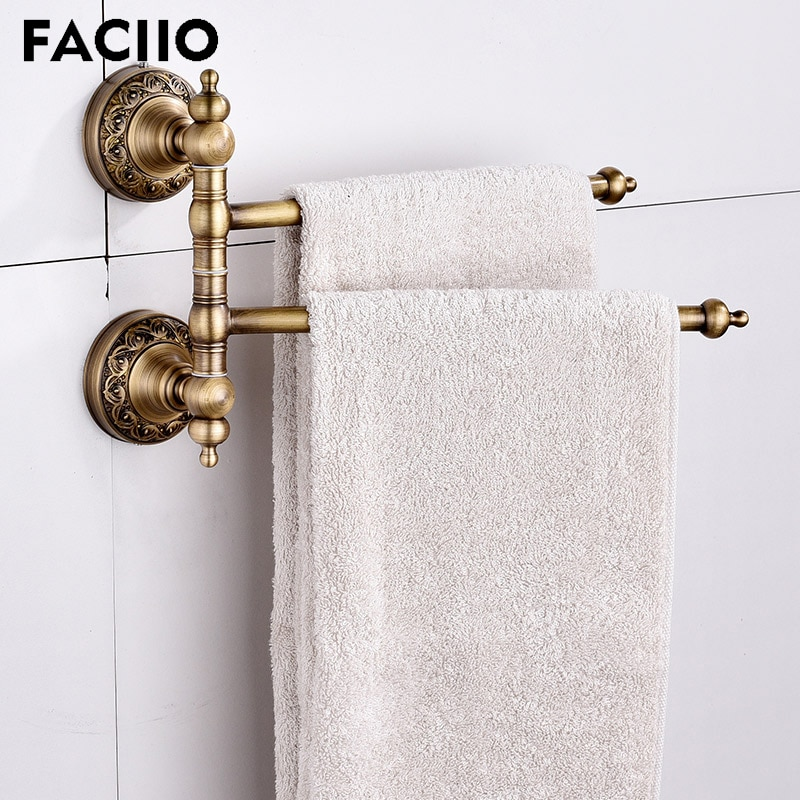 Fasiio-Soporte de toalla montado en la pared para baño, barra de toalla...