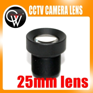 "5pcs 25mm lens CCTV Board MTV lens wide viewing angle 12degree, suitable for 1/3"" & 1/4"" cctv camera sensor"