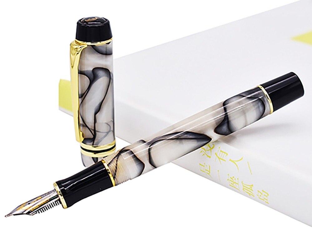 Kaigelu 316 pluma celuloide, pluma de tinta 22KGP medio Nib hermoso mármol patrón de cristal pluma de tinta regalo de escritura para el negocio de la Oficina