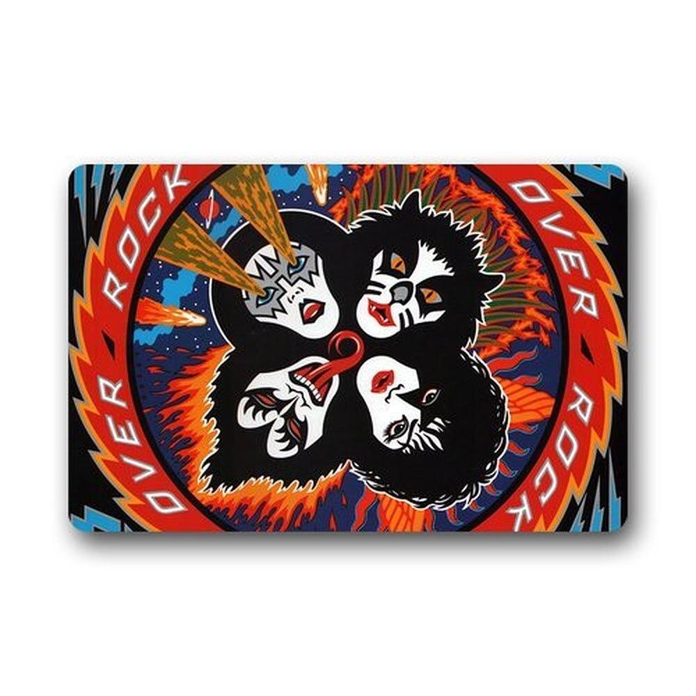Felpudos decorativos personalizados de CHARMHOME Kiss Rock and Roll Over