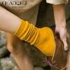 CHAOZHU Japanischen Korea Hohe Schule Mädchen Hohe Socken Lose Feste Farben Doppel Nadeln Stricken Baumwolle Lange Socken Frauen