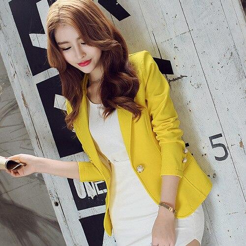 J63169 Doces cor do outono estilo coreano feminino elegante pequeno coringa blazer roupas femininas terno blazers senhoras