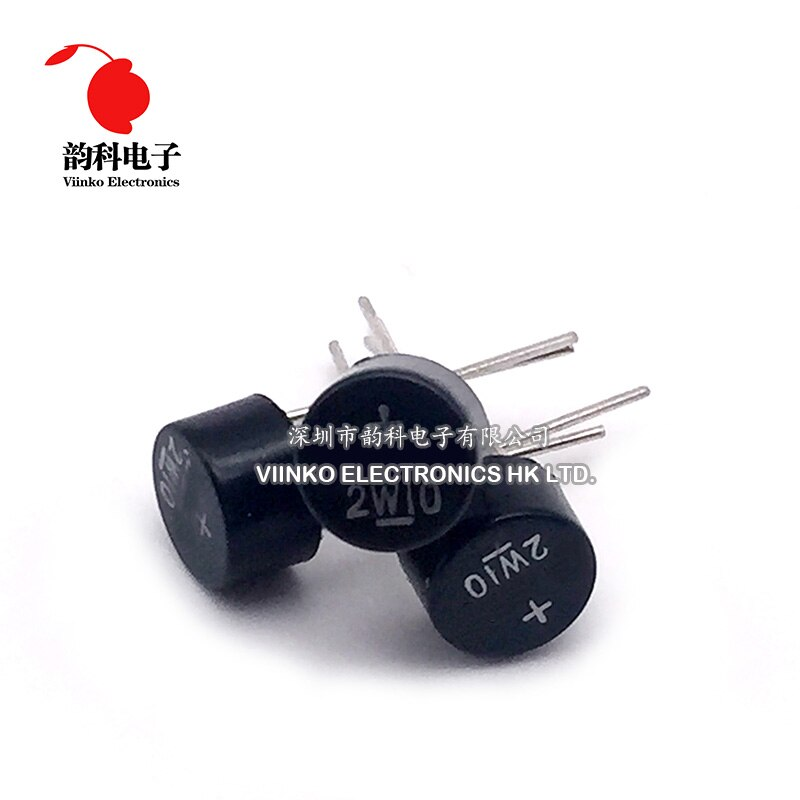 10 Uds 2W10 2A 1000V DIP-4 DIP4 Puente rectificador de diodo 2w10