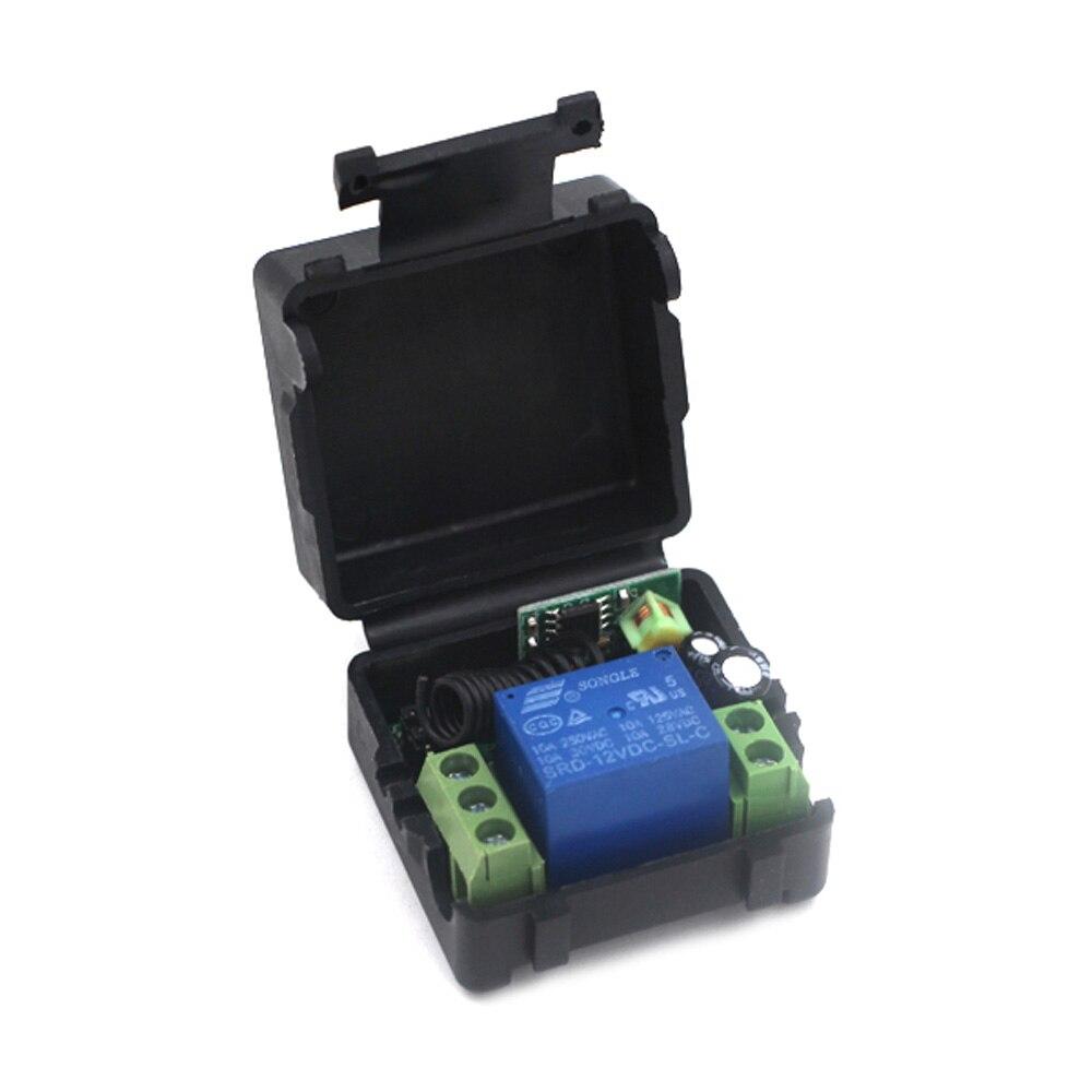 Interruptor de Control remoto inalámbrico, interruptor de radio, receptor de relé 1CH para lámpara de luz de hogar, código de aprendizaje LED 315 Mhz/433 Mhz