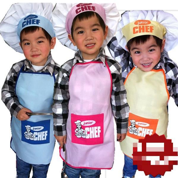 Бесплатная доставка новый Детский фартук для повара комплекты детских костюмов