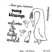 azsg many blessings lovely ducks clear stampsseals for diy scrapbookingcard makingalbum decorative silicone stamp crafts