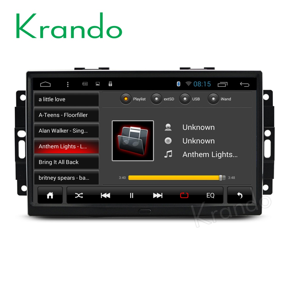 Krando-راديو السيارة متعدد الوسائط مع نظام تحديد المواقع العالمي (gps) ، راديو مع نظام ملاحة ، Android 8.1 ، 9 بوصة ، لسيارة جيب جراند شيروكي (2004-2010) ، لكر...