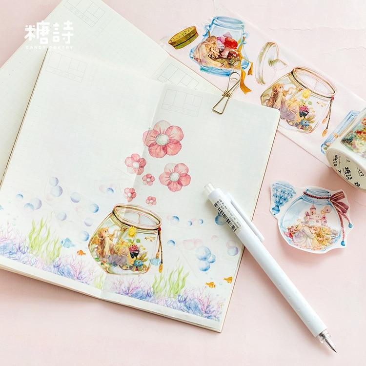 1 Uds. Washi Tapes Cartoon Girl Boys especial tinta pintura papel cinta adhesiva decorativa cintas adhesivas Scrapbooking pegatinas 5m