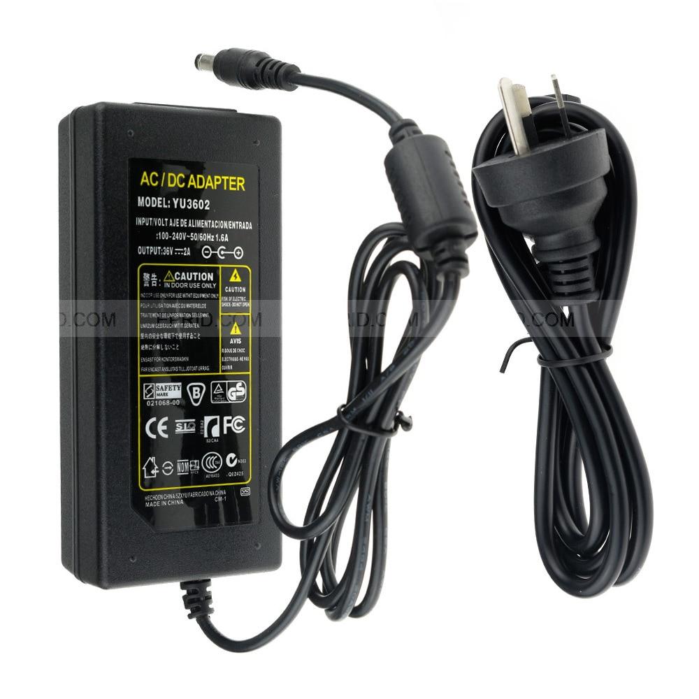 Home DC 36V 2A Power Supply Adapter AU/US/EU/UK Plug for CCTV Security PTZ camera / LED