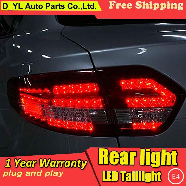D_yl estilo do carro para renault fluence luzes traseiras led 2010-2014 almera sm3 lâmpada de cauda lâmpada traseira drl + freio + parque + sinal led luz