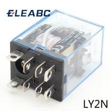 1 pièces LY2NJ AC 220V Bobine 10A 240V Relais DPDT Lampe À Led