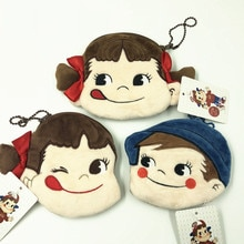 1 Pc japon fuji ya Peko fille Poko garçon porte-monnaie unisexe portefeuille multi-fonctionnel Kawaii sac Anime broderie peluche jouets cadeau