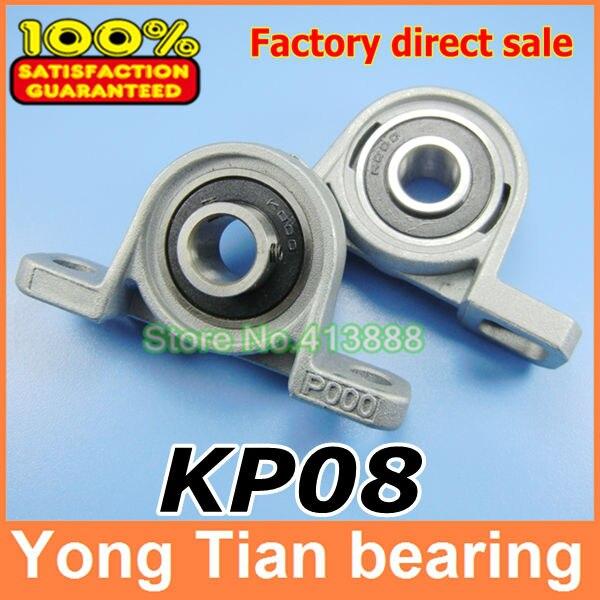 8 mm caliber aleación de Zinc rodamientos montados KP08 UCP08 P08 cojinete de bloque de almohada