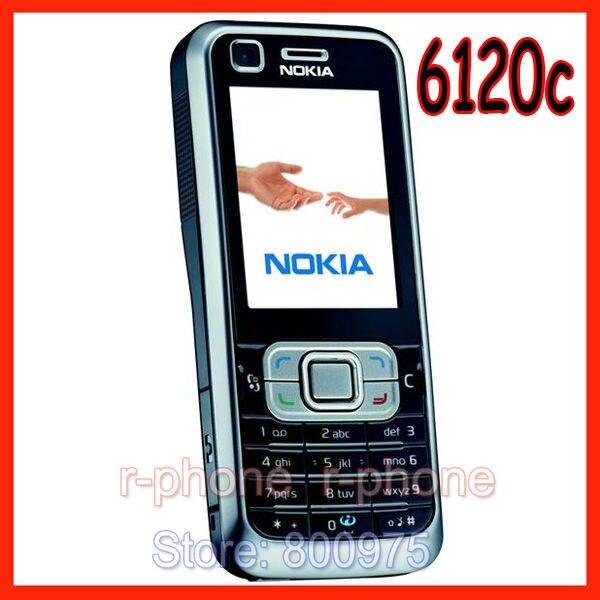 Original Nokia 6120 Klassische Symbian OS Smartphone Entsperrt 3G Nokia 6120c Handy Freies Verschiffen