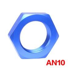 Écouteur eder AN10 adaptateur de montage   À tête de cloison en aluminium anodisé, fermeture à écrou, adaptateur de montage bleu