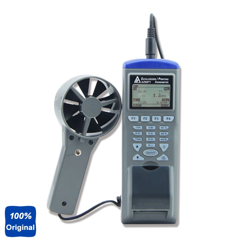 Anemómetro Digital AZ9871 de mano registrador de Anemómetro con impresora