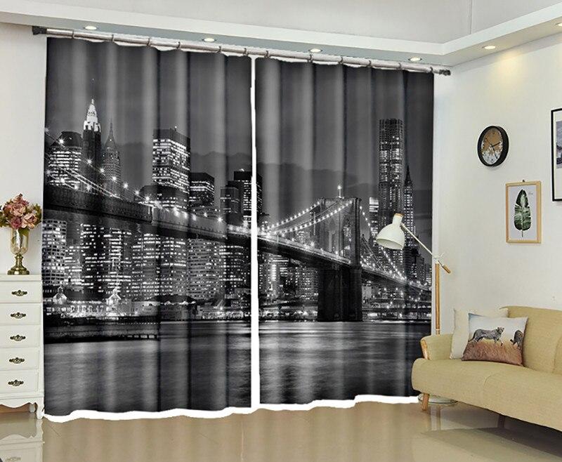 Puente de Londres ventana 3D cortinas para dormitorio sala de estar Oficina Hotel hogar decorativo tapiz de pared tamaño personalizado