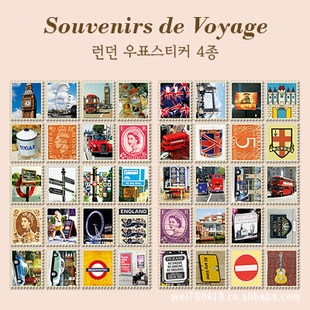 20 set/1lot vintage stamp decoration Labe stickers Korea Stationery 7321 London Notepad paper scrapbooking stickers/sticky notes