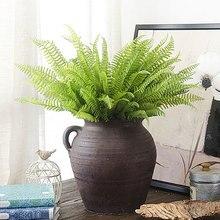 Feuille de pin à 7 Branches Ginkgo persan   En queue de poisson, fleurs artificielles vives, cadeau de décoration pour maison et jardin