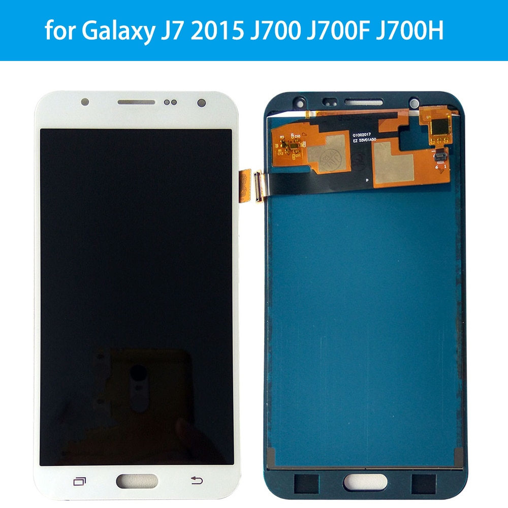 Pantalla táctil LCD de repuesto de calidad AAA para Samsung Galaxy J7 2015 J700 J700F J700H J700M pantalla táctil de pantalla LCD