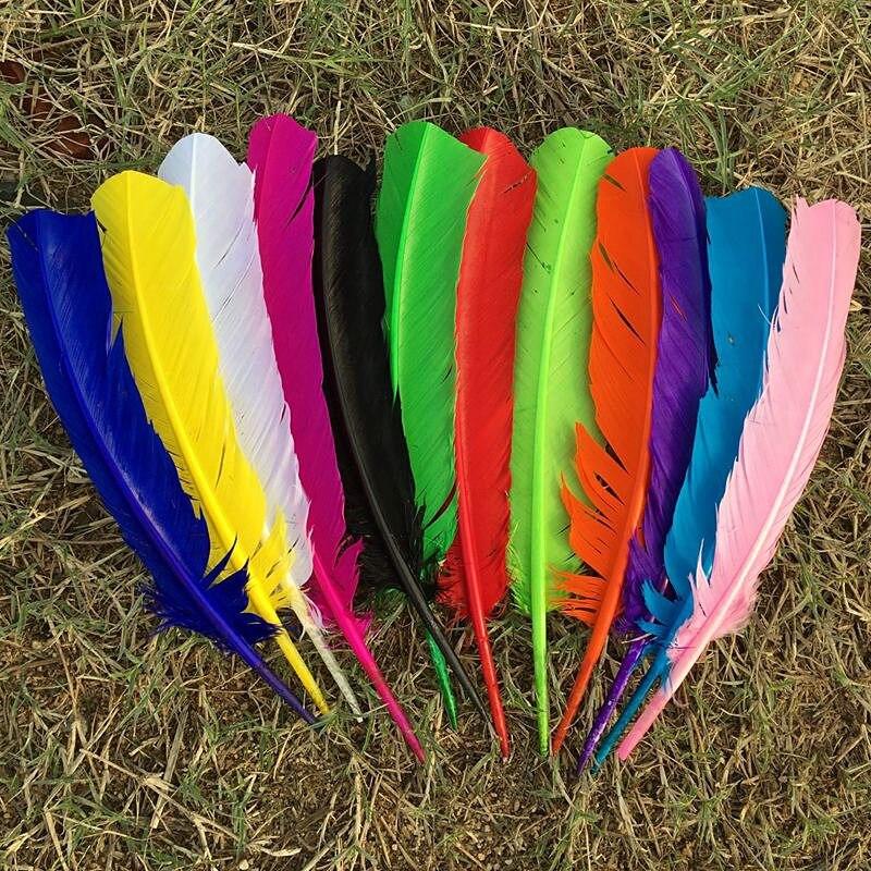 Venta al por mayor 50-500 uds/10-12 pulgadas 25-30cm plumas de ganso blancas, plumas para manualidades accesorios DIY