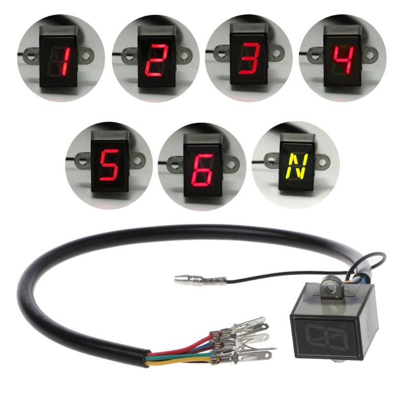 Pantalla de 6 velocidades, indicador Digital de engranaje de Motor, indicador impermeable, luz Universal todoterreno para Motocross, repuestos neutrales para Mo