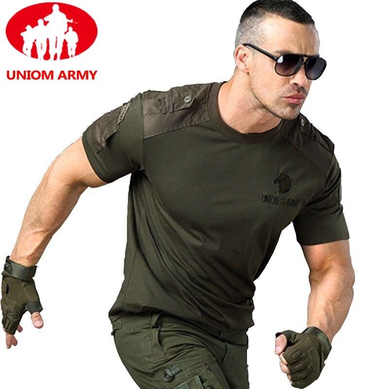 Army T Shirt Military Tshirt Style Tactical T-shirt Urban Men's Green for Men Cargo Uniform Short Sleeved Male Tee TShirt Black