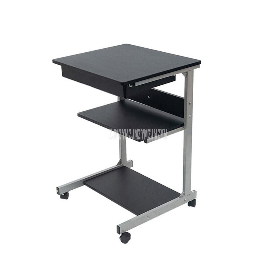 طاولة مكتب فردية مع تصميم درج ، حامل طبقة للطابعة ، مكتب/منزل ، كمبيوتر محمول ، كمبيوتر محمول ، كمبيوتر محمول ، 4 عجلات ، قاعدة فولاذية كربونية