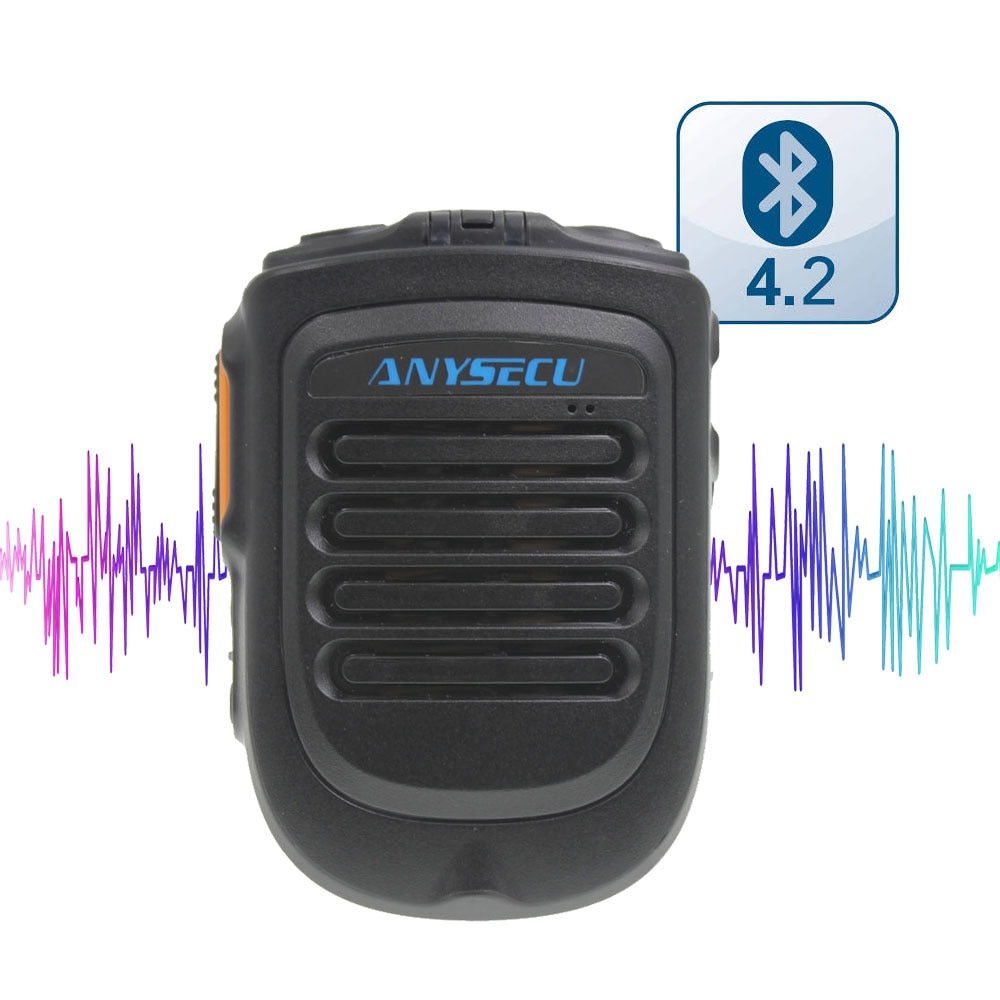k8 15w wireless bluetooth microphone with speaker Wireless PTT Bluetooth handsfree Speaker B01 Microphone for POC Android Network Radio Walkie Talkie Phone work with Zello PTT