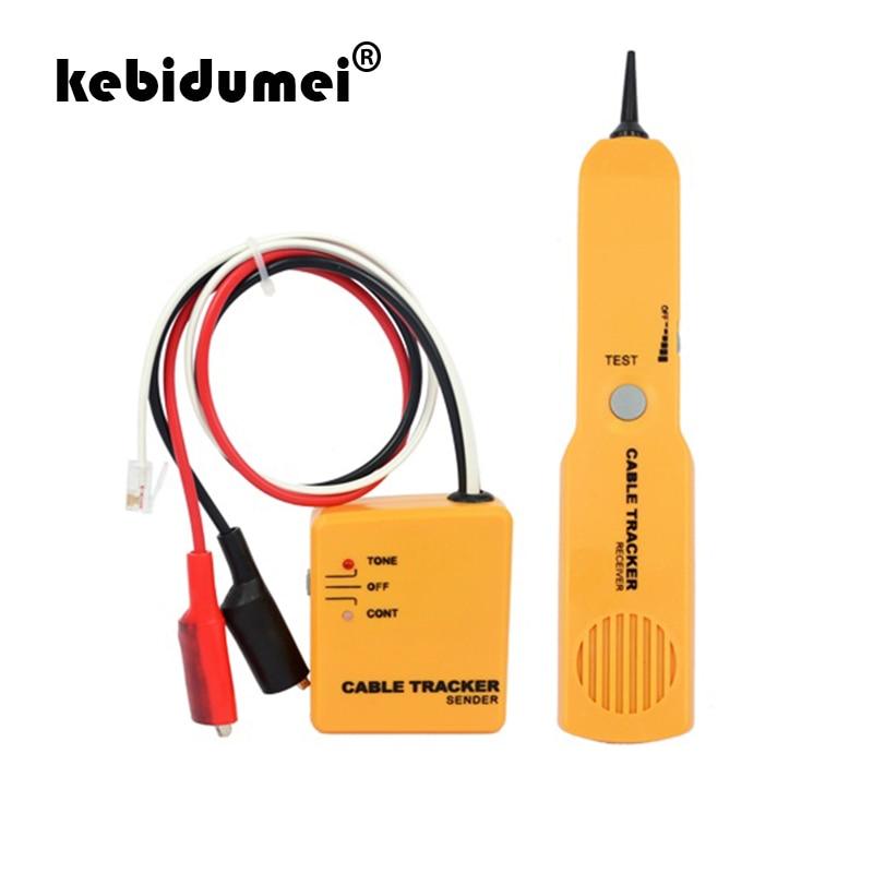 Kebidumei alta qualidade handheld telefone cabo rastreador fio do telefone detector de linha rj11 testador kit ferramenta portátil tracer receptor