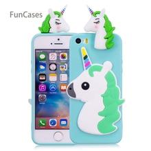 Funda de teléfono adorable unicornio sFor Capinha iPhone 5 funda de teléfono de silicona suave Ajax Floral para iPhone 5S SE 5C Skal Cas