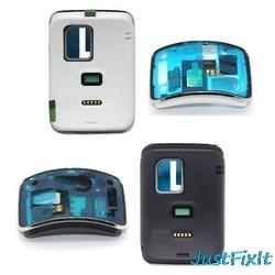 Para samsung galaxy gear s SM-R750 habitação traseira frente + voltar bateria capa buzzer caso