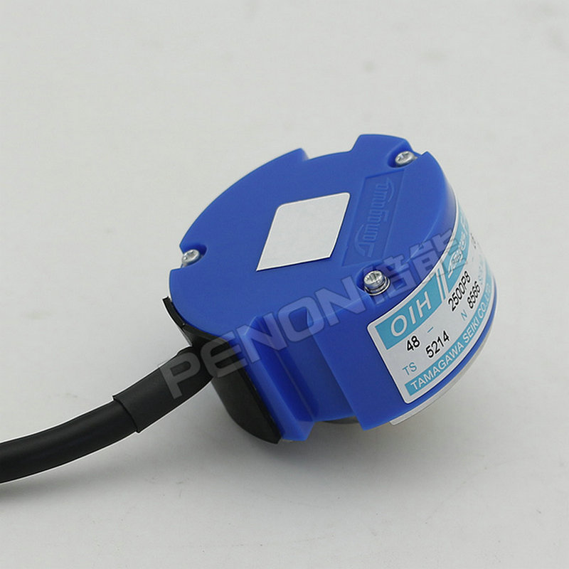 פופולרי Tamagawa 48mm 5V DC סרוו מנוע מקודד OIH48-2500P8-L6-5V TS5214N8566 2500 קו להתחדד חלול פיר מצטבר מקודד