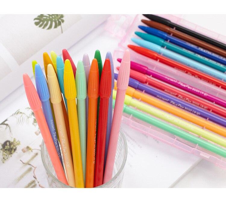 Monami 3000 pluma de dibujo de punta de fieltro de 0,3mm pluma de acuarela Fineliner álbum de recortes de colores pluma de diseño de tinta Linda papelería Kawaii