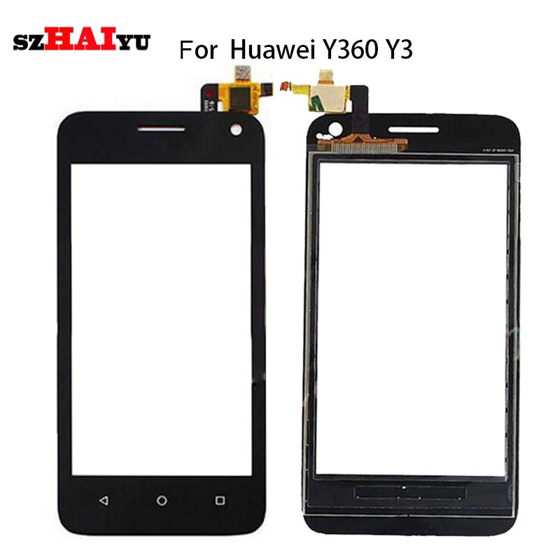 """SZHAIYU 4,0 """"lente de vidrio Panel blanco y negro digitalizador de Sensor para Huawei Y360 Y3 Y360-CL00 Y360-U03 Y360-U3 pantalla táctil + herramienta"""