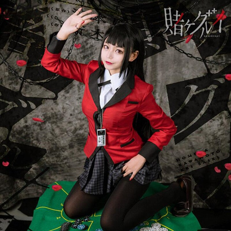 Uniforme giapponese per ragazze della scuola Anime Kakegurui Yumeko Jabami costumi Cosplay
