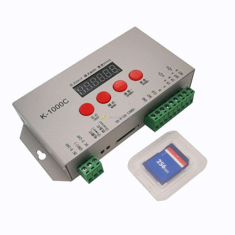 DC5V-24V K-1000C controller (T-1000S Aktualisiert) WS2812B,WS2811,APA102,SK6812,2801 LED 2048 Pixel Programm Controller