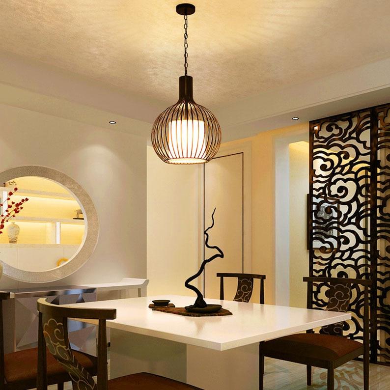 Candelabro chino de Hotel, casa de té, restaurante, linterna de pájaro, candelabro, balcón, lámpara de dormitorio, lámparas al por mayor