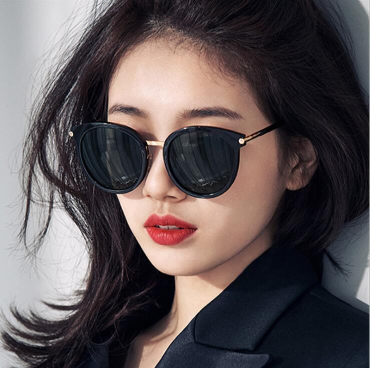 Fashion Cat Eye Sunglasses Women Oversized round Steampunk Vintage Sun Glasses For Ladies Retro Bran