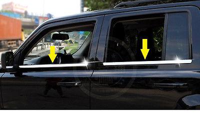 S/de acero en Ajuste de ventana alféizar de cromo de moldeo por Jeep Patriot 2007-2017
